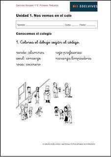 Actividades de refuerzo y ampliación. Ciencias Sociales 1º E. Primaria, Proyecto Superpixépolis