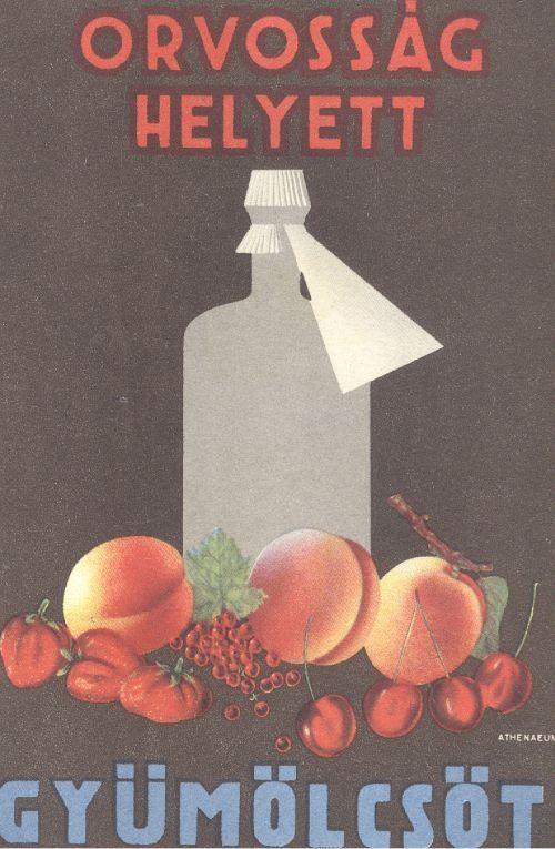 Garamvölgyi K. (graf.) : Orvosság helyett gyümölcsöt