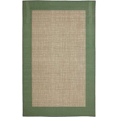 Mainstays Indoor Outdoor Rug Green Border Outdoor