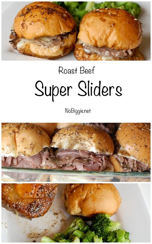 Roast Beef Super Sliders | NoBiggie.net