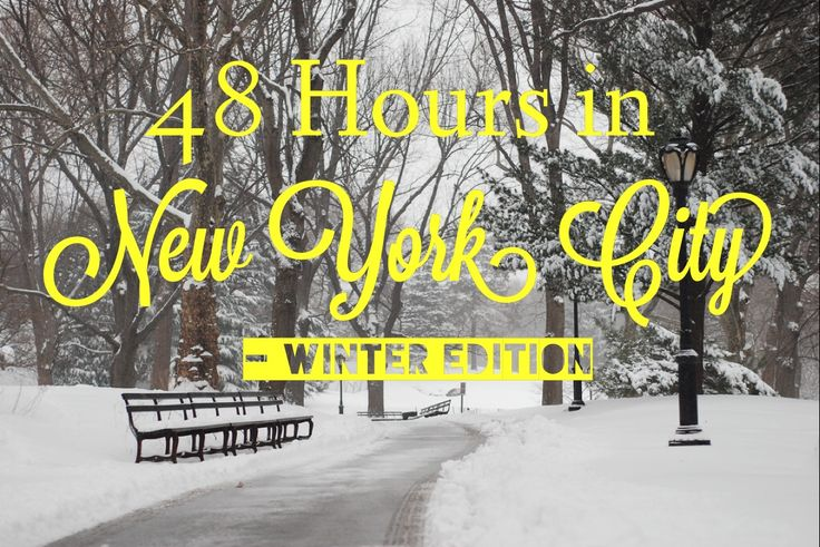 48 Hours in NYC - Winter Edition I'm not going in winter but I'm sure I'll get some ideas of things to do. @MrsMeganMcClain