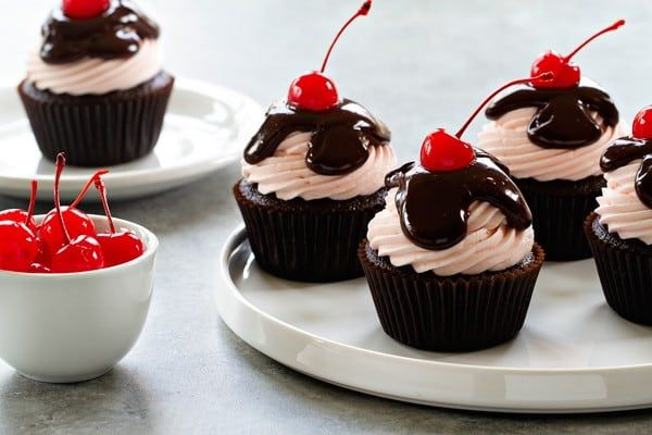 Coca-Cola Cupcakes have a gorgeous cherry infused buttercream on top. No straw required!