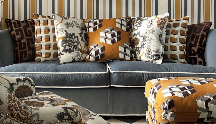 44 best fabric images on pinterest fabrics - Telas para tapizar sofas ...