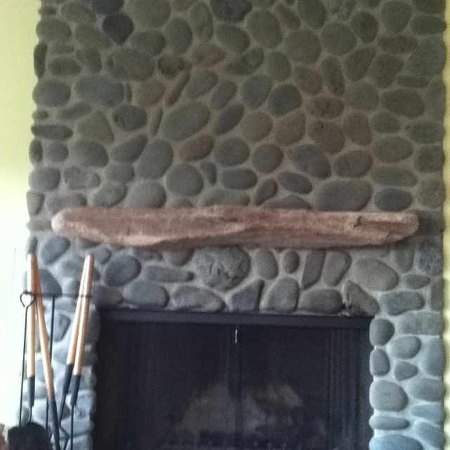 Driftwood fireplace mantel. - 197 Best Fireplace Mantel Images On Pinterest