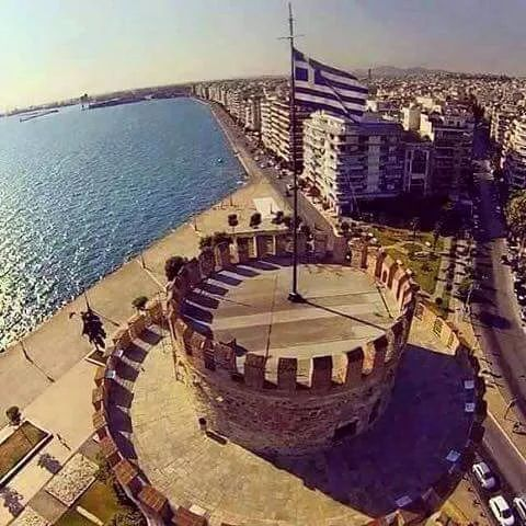 Macedonia, the White tower of Thessaloniki, Macedonia Greece