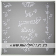 be yourself, stay true (grey)