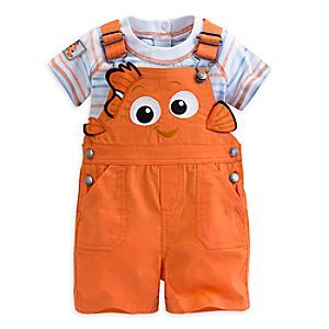 Disney Finding Nemo Dungaree Set for Baby | Disney StoreFinding Nemo Dungaree Set for Baby - Your ocean explorer will resemble our favorite clown fish while wearing this adorable dungaree set. Featuring 3D fins and Disney Cuddly Bodysuit, this adventurous outfit is certain to cause a wave of excitement.