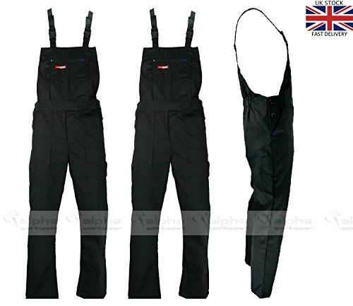 Cheap Black Bib and Brace Overalls Painters and Decorators Work Trousers MASTER deals week