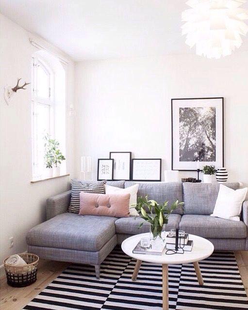 die 25+ besten ideen zu kleines ecksofa auf pinterest   kleine ... - Couchgarnituren Fur Kleine Wohnzimmer