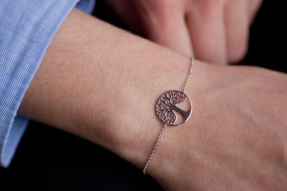 Bracelet arbre de vie en argent.