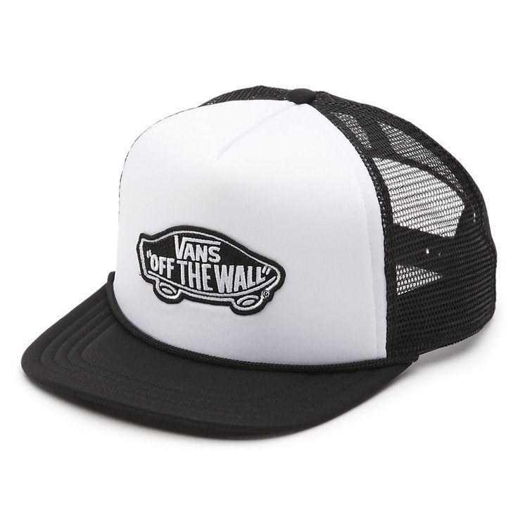 Vans Classic Patch Boys Trucker Hat Black White VN00NQWYB2