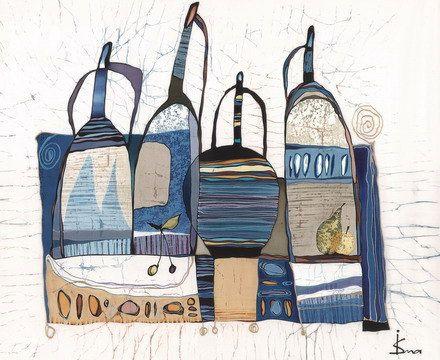 Blue Jugs от IsmaArt на Etsy, $425,00