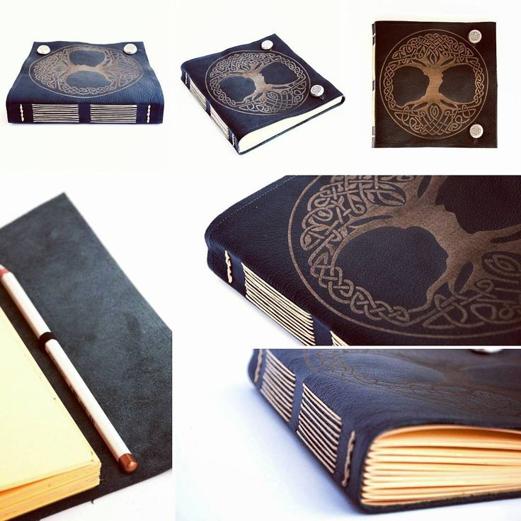 Aanda archive: leather sketchbook with Celtic pattern. / Z archiwum Aandy: skórzany szkicownik z celtyckim motywem ma okładce.  #bookbinding #bookbinder #handbound #leatherjournal #leatherbook #handmadeinpoland #handmade #longstich #aandaarchive #celtic