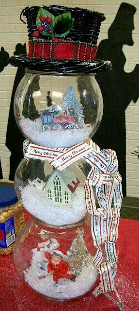Snowman Snowjar Globe