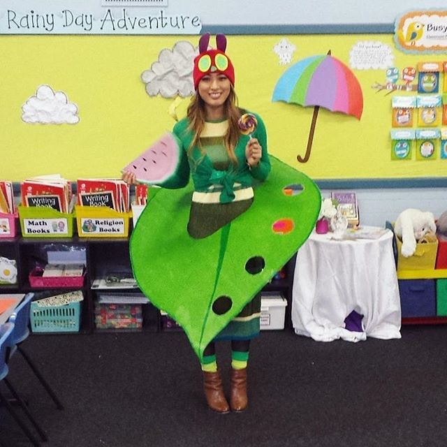 Hungry hungry caterpillar!!  from @nourish.me.huong #theveryhungrycaterpillar #bookweek2015 #masterofdisguise
