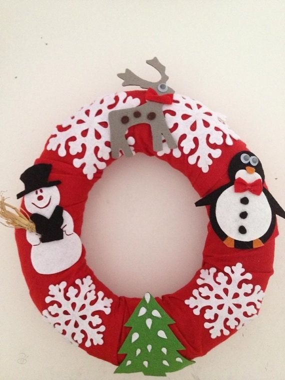 FREE SHIPPING Door Hanger for Christmas by SecretOfHands on Etsy, $20.00