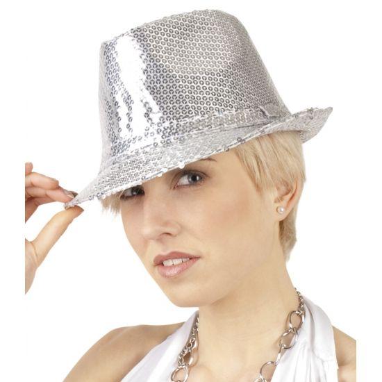 Dit zilveren hoedje met pailletten laat u overal schitteren! Dit zilveren hoedje met pailletten maakt uw feestoutfit helemaal compleet! De glitter hoed is zilver en bedekt met zilveren pailletten. Meer artikelen met pailletten kunt u vinden in deze winkel.