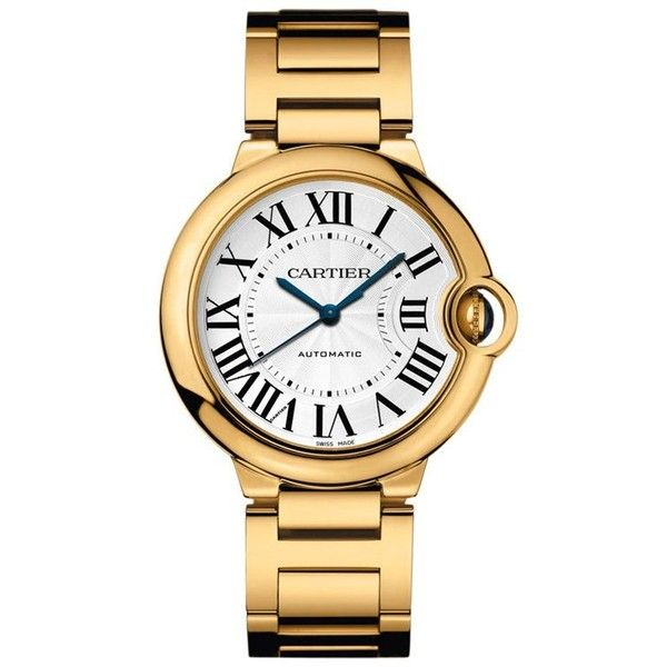 Pre-owned Cartier Ballon Bleu W69003z2 18K Yellow Gold Watch ($24,396) ❤ liked on Polyvore