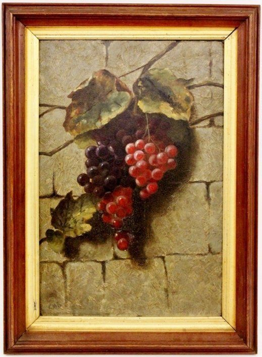 Samuel Marsden Brookes - Original Oil on Panel, Grapes (18 in x 12 in) from therecklessnecklace on Ruby Lane