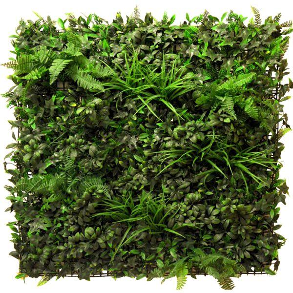 Rustic fern themed artificial green wall foliage