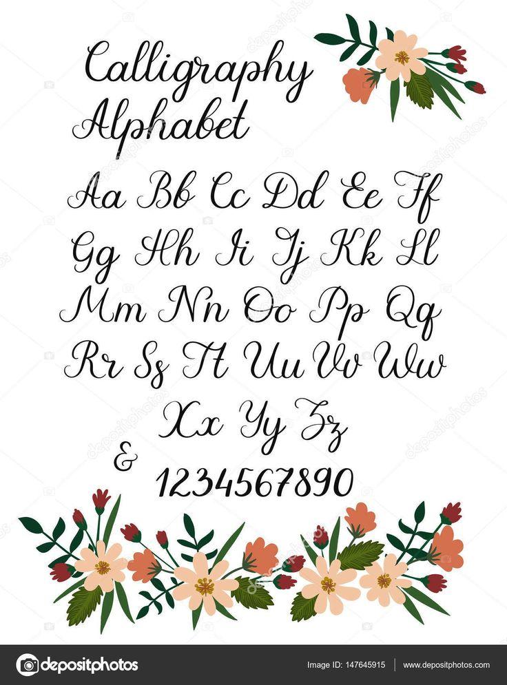 Handschriftliche Pinselschrift. ABC Moderne Kalligraphie. Hand Schriftzug Vektor Alphabet …