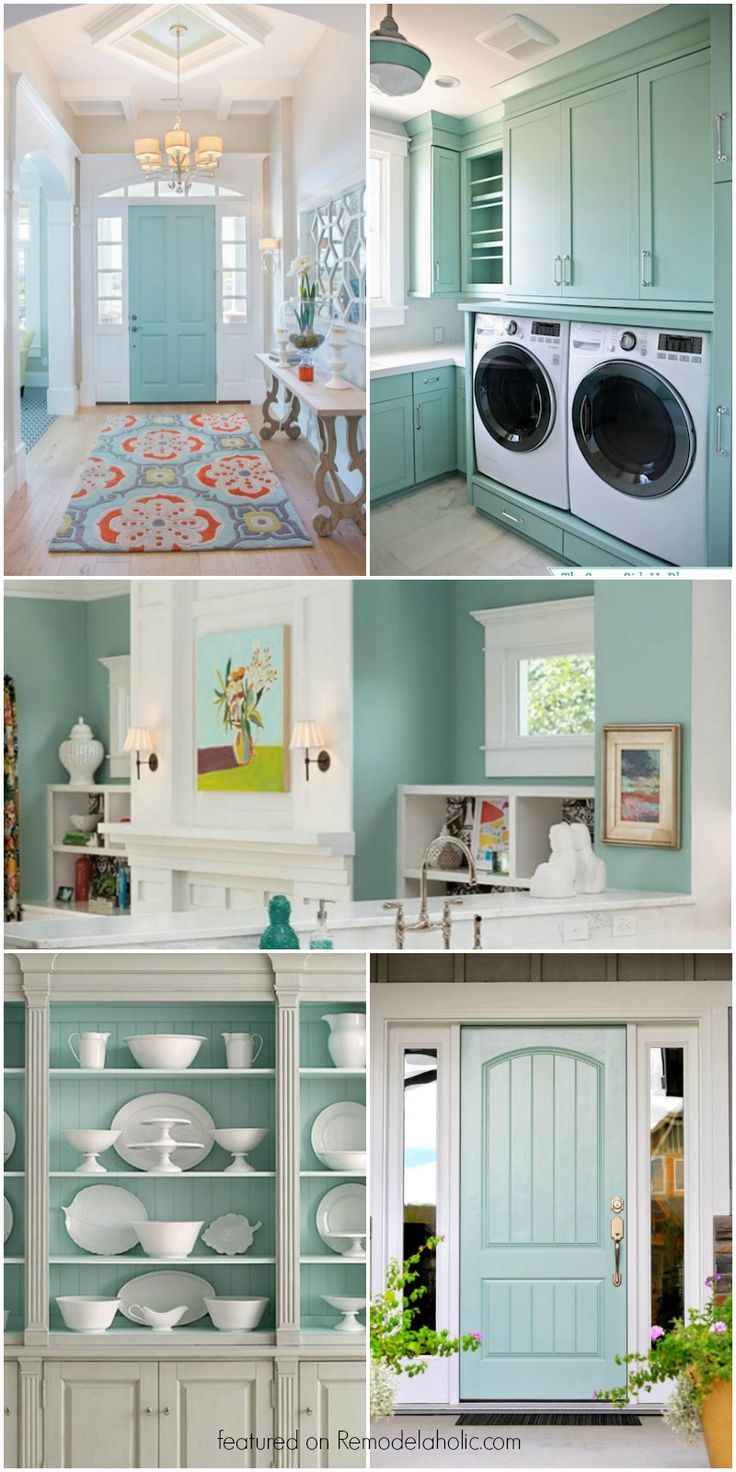 This beautiful light blue-gray paint color is so versatile! Interiors and exteriors, for cabinets, walls, and more!