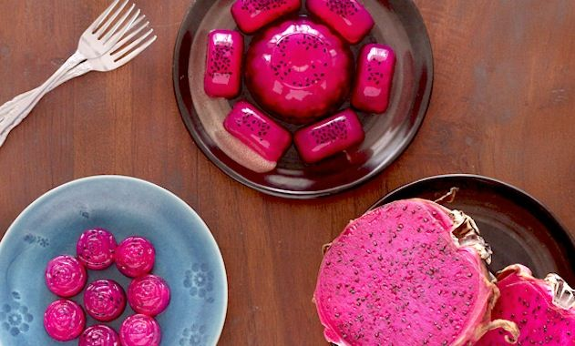 Get resourceful with vibrant dragon fruit jellies that are gelatin free and vegan.