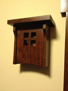 Craftsman style doorbell cover. ** I really like this and you could probably make it out of scrap wood left over from another project! ** More