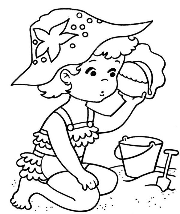 7 best Coloring pages images on Pinterest Beach coloring pages