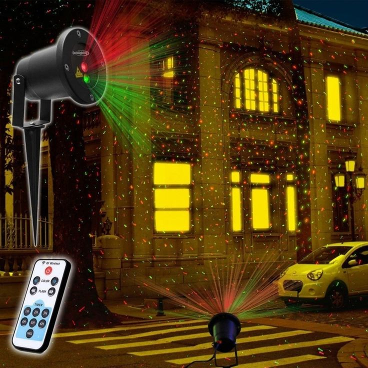Waterproof Outdoor Lawn Light Corridor Lights Laser Stage Lighting Projector with Remote Control (Color: Black)