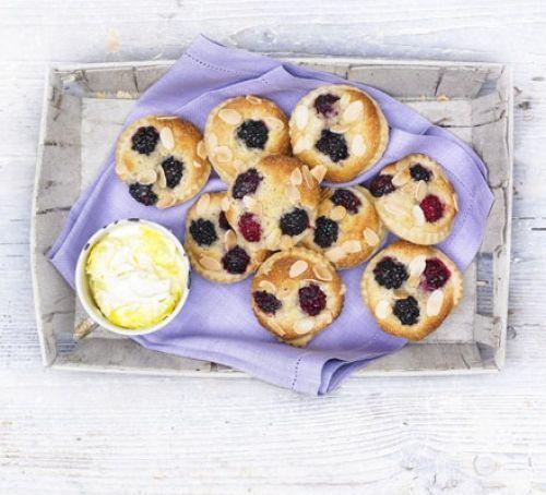 Mini blackberry Bakewells