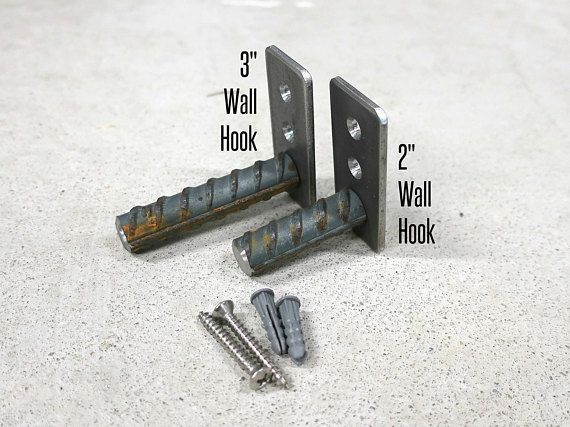 Wall Hooks - Coat Hooks - Rustic Coat Hooks - Industrial Wall Hooks - Metal Coat Hooks - Bag Hook - Towel Hook - Metal Hook Priced as: - Single (1) Wall Hook - Set of (5) Wall Hooks - Set of (10) Wall Hooks Wholesale pricing available for larger quantities. Available in 2