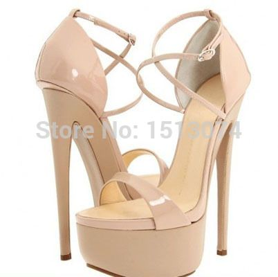 2015 Brand New Ultra High Platform Sandals Women Open Toe Summer High Heels Cross Strappy Nude Pumps Woman Shoes Size 35 41(China (Mainland))