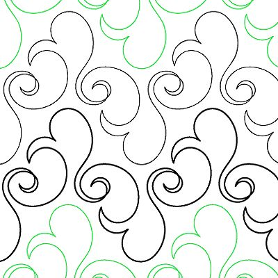 Bluster - Digital - Quilts Complete - Continuous Line Quilting Patterns