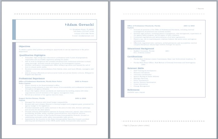 25  best ideas about police officer resume on pinterest