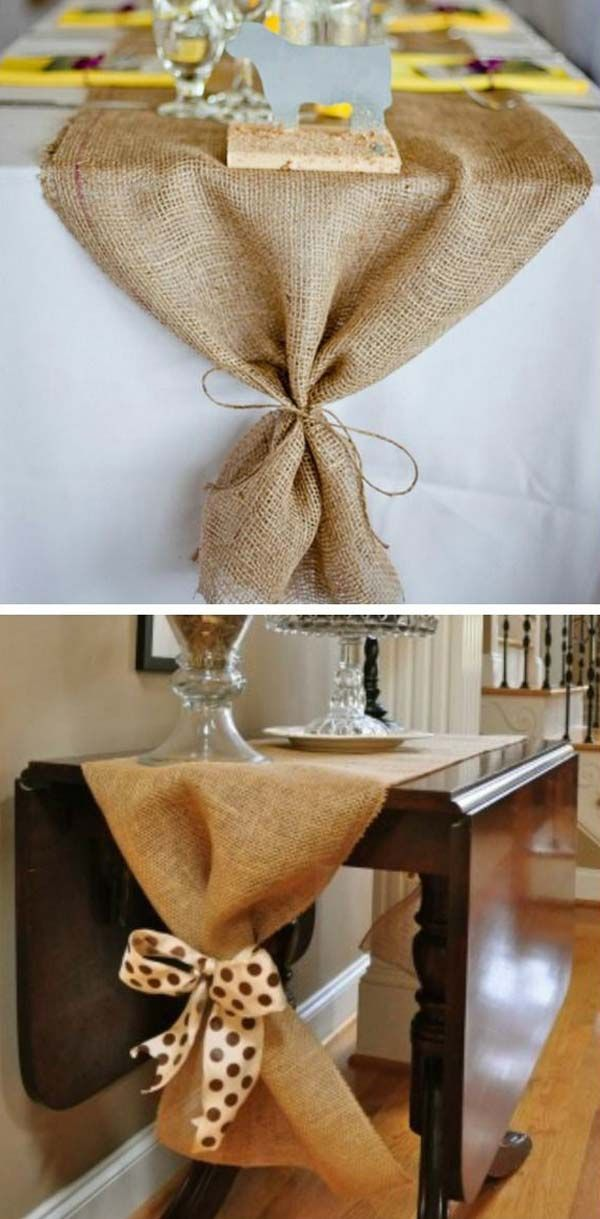 17 best ideas about burlap table runners on pinterest - Decorating ideas using burlap ...