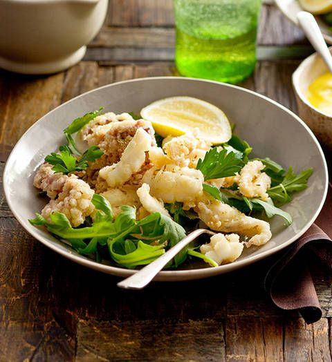 Salt and pepper calamari: The sweet aniseed flavour of fennel seeds, working in tandem with a saffron-infused sauce, makes this classic something special.