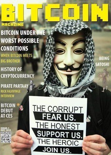 Item specifics    									 			Brand:   Bitcoin      							 							  Bitcoin Magazine No 1 Premiere Issue SATOSHI Nakamoto Anonymous We Are Legion  Price : 225.00  Ends on : 3 weeks    - #Antrouter, #Bitcoin, #BitcoinMiner, #BITCOINMININGCONTRACT, #GntMining