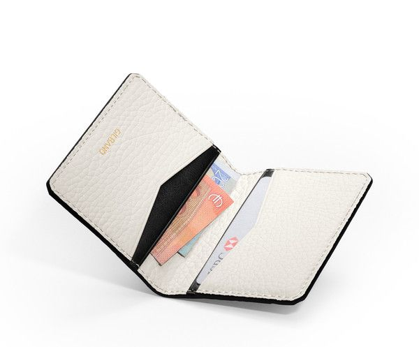 GILBANO - Leather Credit Card Case - Leather wallet - Oyster - White