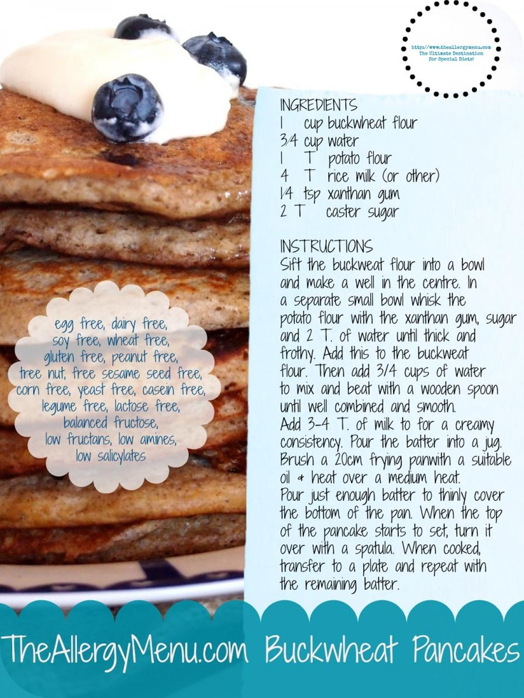 Happy Shrove Tuesday!  Here is our final pancake recipe card in our 5 Days of Pancakes!  This one is Buckwheat Pancakes and is egg, dairy, gluten and nut free!  Enjoy! http://theallergymenu.com/blog/theallergymenucom-buckwheat-pancakes-recipe-card