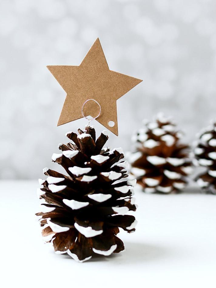 Naamkaartjes kersttafel Kerstmis
