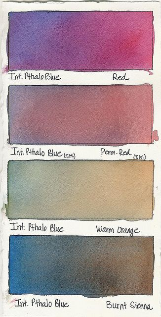 Intense Pthalo Blue + a Color by Tracee Murphy, via Flickr