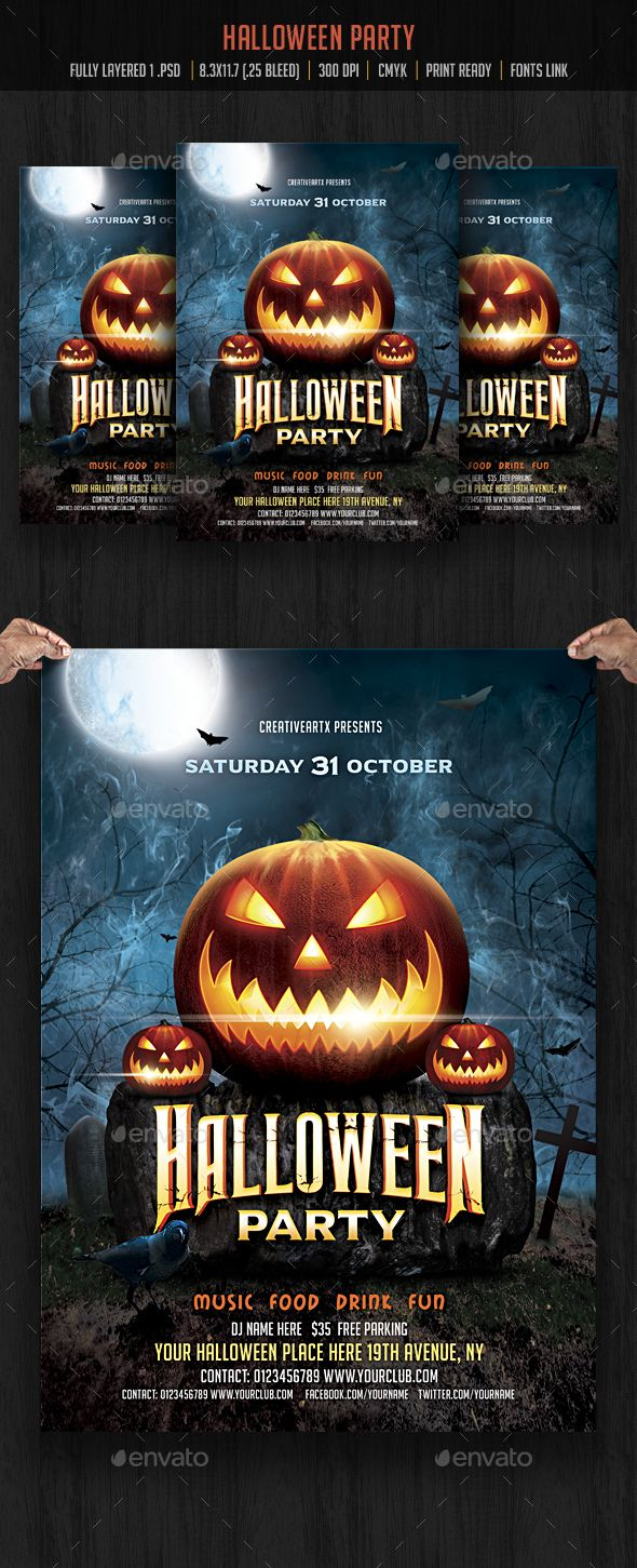 halloween flyer pictures