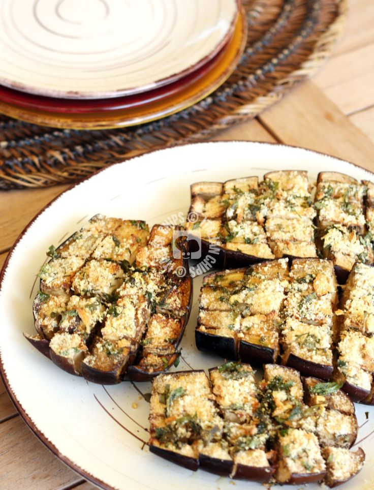 Vegan Baked Eggplant- Replace Parmesan Cheese with a faux cheese.