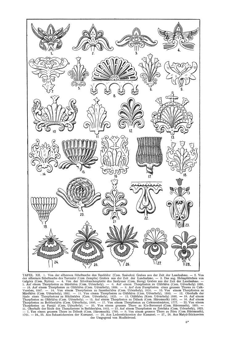 Free Clip Art and Digital Collage Sheet - Magyar Ornament   Magic of Color