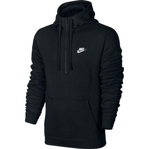 Nike Men's Club Fleece Half Zip Hoodie (Black/White, Size X Large) - Men's Athletic Apparel, Men's Athletic Fleece at Academy Sports