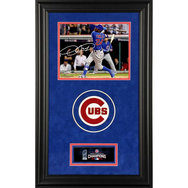 """Dexter Fowler Chicago Cubs Fanatics Authentic 2016 MLB World Series Champions Deluxe Framed Autographed 8"""" x 10"""" World Series Photograph - $249.99"""