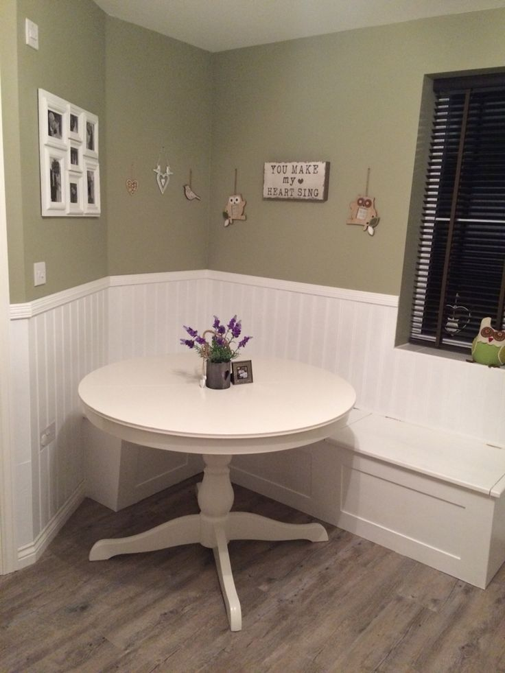 Small Kitchen Ideas Breakfast Nook White Wood Paneling