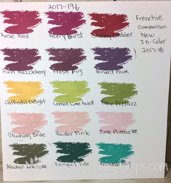 stampin'up! In Color 2017-19 in comparison