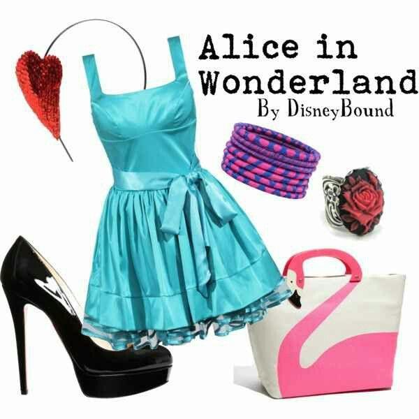 disney bound alice  wonderland clothes pinterest